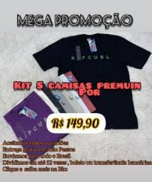 Mega promoção KIT 05 CAMISAS por 149,90