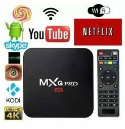 Tv box c/canais , filmes e séries