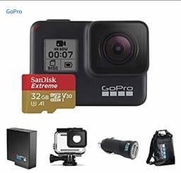 Kit especial GoPro câmera hero 7 black com cartão 32gb extreme