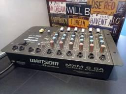 Mesa de som com 6 canais - Wattsom/Ciclotron