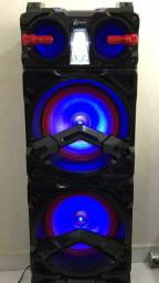 Caixa de som amplificada Lenoxx, 800W com nota fiscal e garantia de 1 ano.