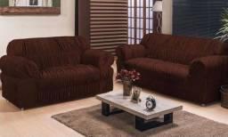 Capa sofá em malha 2/3 lugares