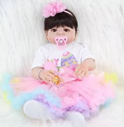 Boneca bebê reborn arco íris entrega gratuita em toda baixada