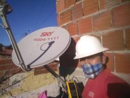 Instalação e manutenção em antenas