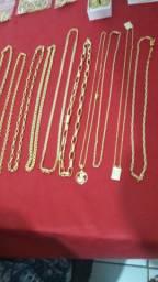 cordões banhado a ouro com verniz vários  modelos
