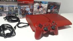 PlayStation 3 modelo super slim editar especial vermelho entrega e parcela até 12x