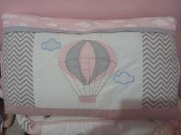 Kit de berço americano Tema balão feminino