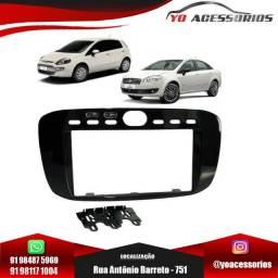 Moldura DVD 2Din Fiat Punto 2013 a 2017 Preto