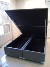 Cama Box Bau Queen Size 158x198