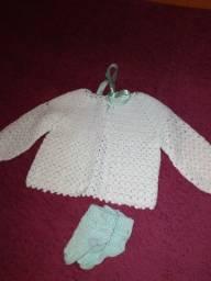 Kitão bebê sapatinhos +casaquinhos +touca Soft +saco de dormir