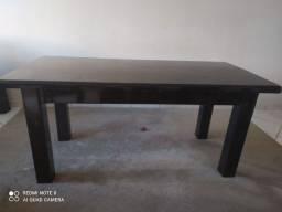 Mesa de madeira laqueada com 6, promoção por motivo de mudança!