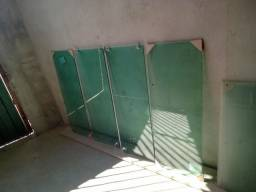 6 janelas novas de vidro temperado verde 8mm sem alumínio