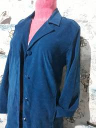 casaco estilo blazer tam m azul petroleo 25,00
