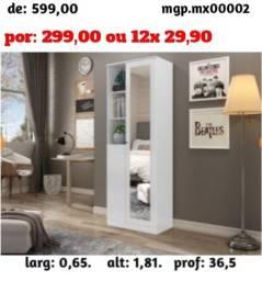Armario Multiuso com Duas Portas com Espelho - Promoção em Curitiba