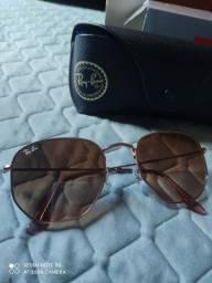 Óculos hexagonal original Ray-ban feminino