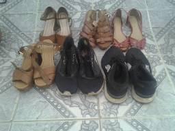 Lote de Calçados masculino e feminino