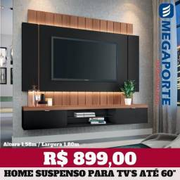 """Título do anúncio: Painel Home com Led para TV até 60"""" (Novo) Entrega Grátis!"""