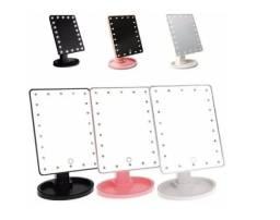Espelho de mesa p/ maquiagem leds portátil touch - b28
