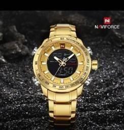 Relógio NaviForce Original Dourado