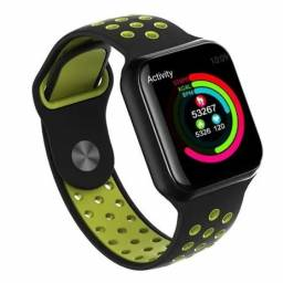 Relogio Smart Watch Bluetooth Android IOS (SH-F8) - Preto c/ Verde
