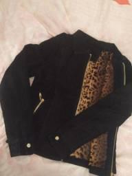 Jaqueta de couro faminina