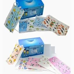 Máscara Infantil Descartável Tripla Proteção Estampada (pacote ou caixa)