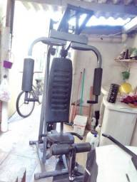 Estação de musculação 65kg seminova