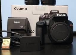 Canon Eos Rebel T100 18mp Dlsr + Lente 18-55mm