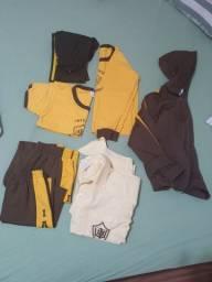 Kit 7 peças uniforme Agostinho Moreira seminovos