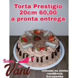 Torta prestígio 20cm a pronta entrega