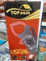 Alicate Amperímetro Digital Multímetro C/ Estojo Com Som