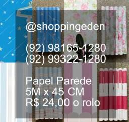 Oferta de papel de parede mais barato de Manaus 5m por 45cm estar 24 reais cada