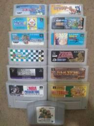(Promoção) Fitas de Super Nintendo japonês Originais