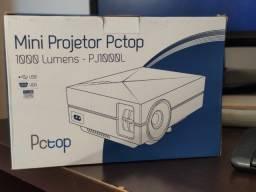 mini projetor pctop pj1000l  - 1000 lumens