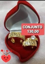 ALIANÇAS com NOME JESUS VASADO pra CASAIS EVANGÉLICOS