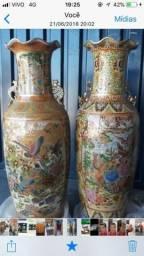 Vendo ou troco 2 vasos chineses lindos