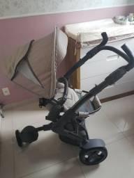 Carrinho de Bebê ABC Design 3 Tec até 15kg ou 3 anos de idade + Moisés