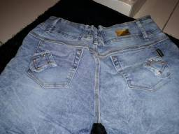 Lunda bermudas jeans plus size
