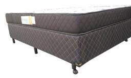 Cama casal box base e colchão espuma D45 / Parcelas de: