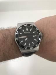 5a1280ce518 Relógio Fóssil Preto - Pulseira Couro Legítimo Mod. Am4341