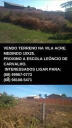 Vendo terreno prox na vila acre