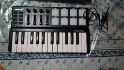 Midi controlador teclado panda mini da worlde