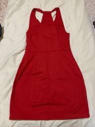 Vestido curto vermelho ZARA