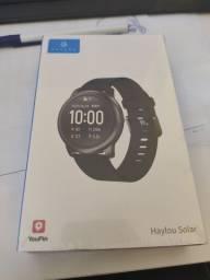 Smartwatch haylou solar + kit  pulseira + película + case de proteção