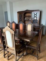Conjunto Mesa e Oratória em madeira MACIÇA
