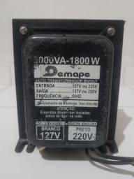 Transformador de energia de 120 para 220 voltes capacidade de 3000 V.A _1800 W