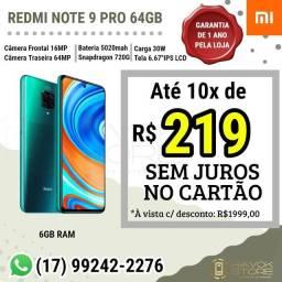 REDMI NOTE 9 PRO (64GB) PRONTA ENTREGA