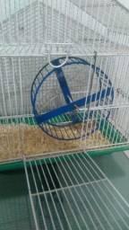 Gaiola com roda para roedor