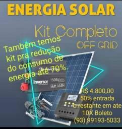 Kit solar comprar usado  Terra Santa