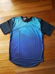 Camiseta Long Line Azul Degrade